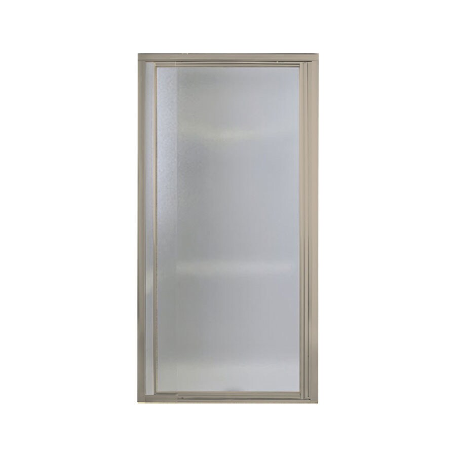 Sterling Vista Pivot II 24-in to 27.5-in Brushed Nickel Pivot Shower Door