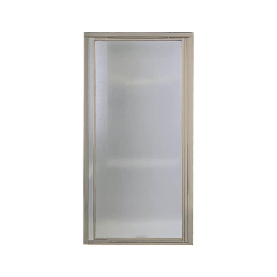 Sterling Vista Pivot II 24-in to 27.5-in W Framed Brushed Nickel Pivot Shower Door