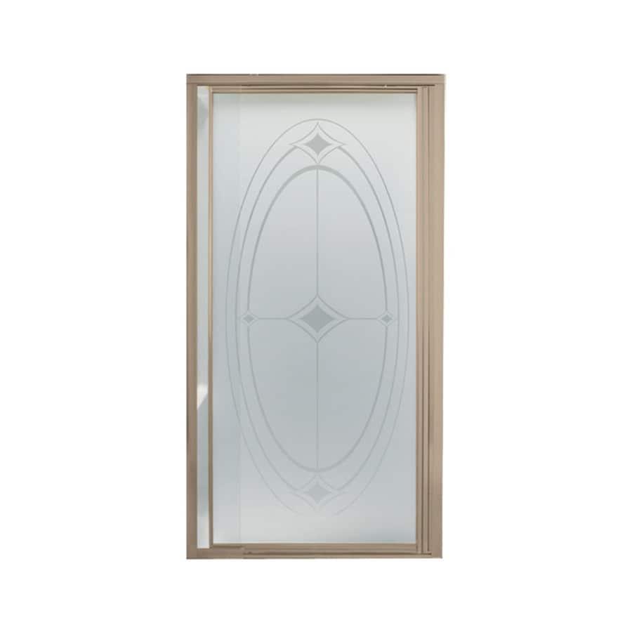 Sterling Vista Pivot II 27.5-in to 31.25-in W Framed Brushed Nickel Pivot Shower Door