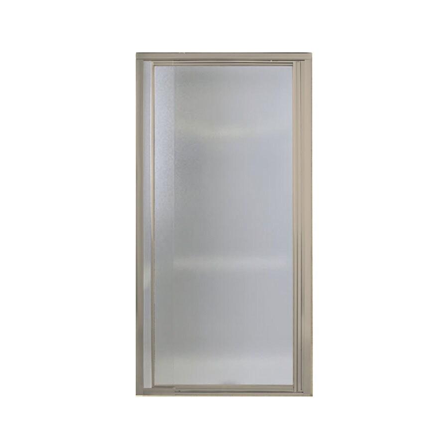 Sterling Vista Pivot II 27.5000-in to 31.2500-in Framed Brushed nickel Pivot Shower Door