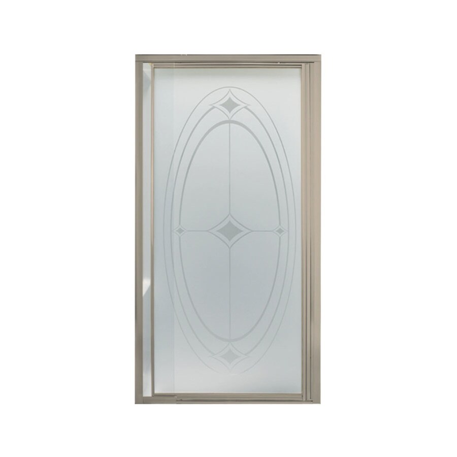 Sterling Vista Pivot II 31.2500-in to 36-in Framed Brushed nickel Pivot Shower Door