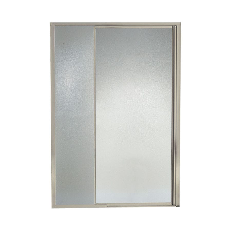 Sterling Vista Pivot II 42-in to 48-in Brushed Nickel Pivot Shower Door