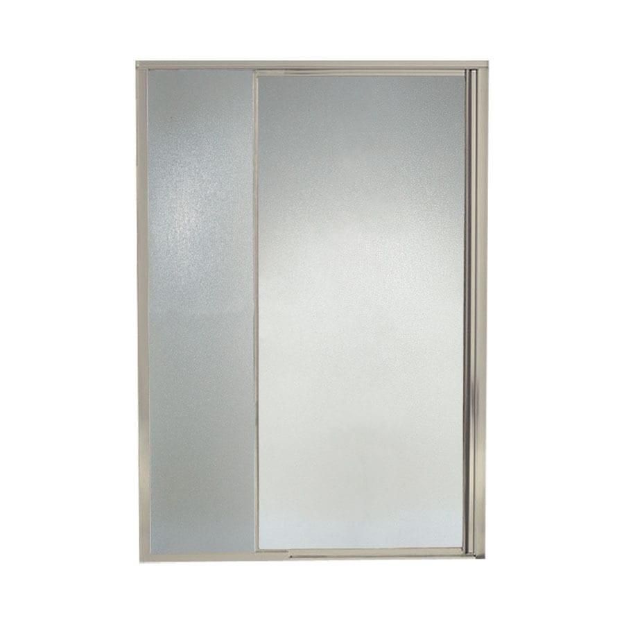 Sterling Vista Pivot II 42-in to 48-in W Framed Brushed Nickel Pivot Shower Door