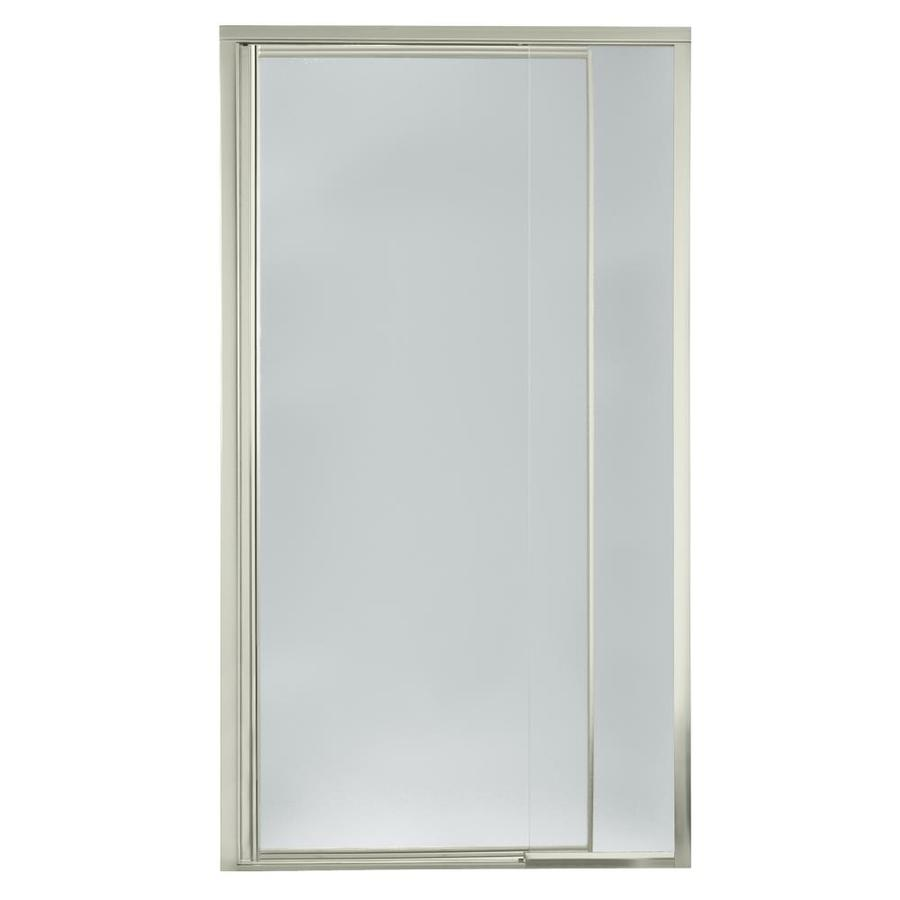 Sterling Vista Pivot II 36-in to 42-in Brushed Nickel Pivot Shower Door
