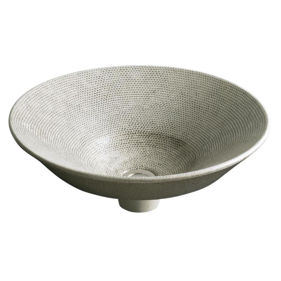 KOHLER Artist Edition Conical Bell Boucle Tweed Vessel Round Bathroom Sink