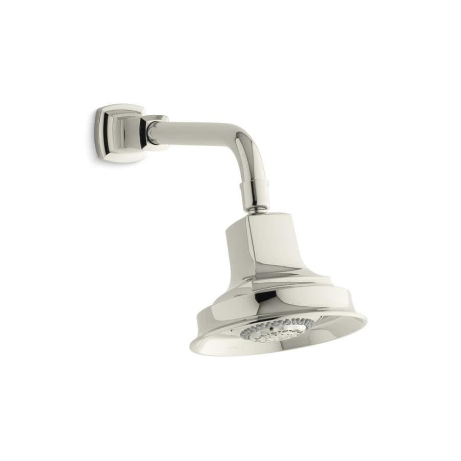 KOHLER Margaux 5.9375-in 2.5-GPM (9.5-LPM) Vibrant Polished Nickel 4-Spray Rain Showerhead