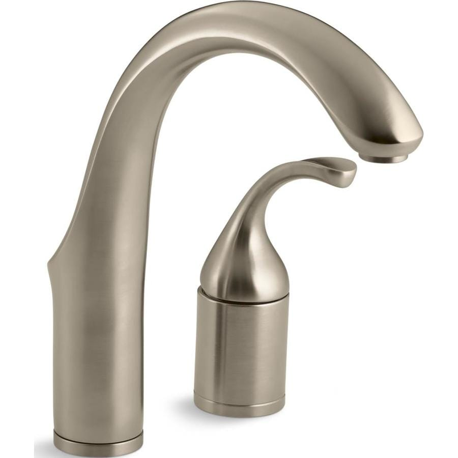 KOHLER Forte Vibrant Brushed Bronze 1-Handle Bar and Prep Faucet