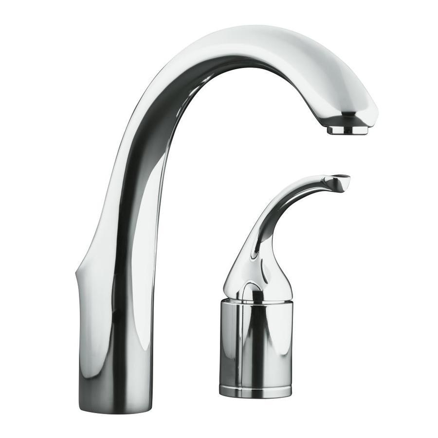 KOHLER Forte Polished Chrome 1-Handle-Handle Bar and Prep Faucet