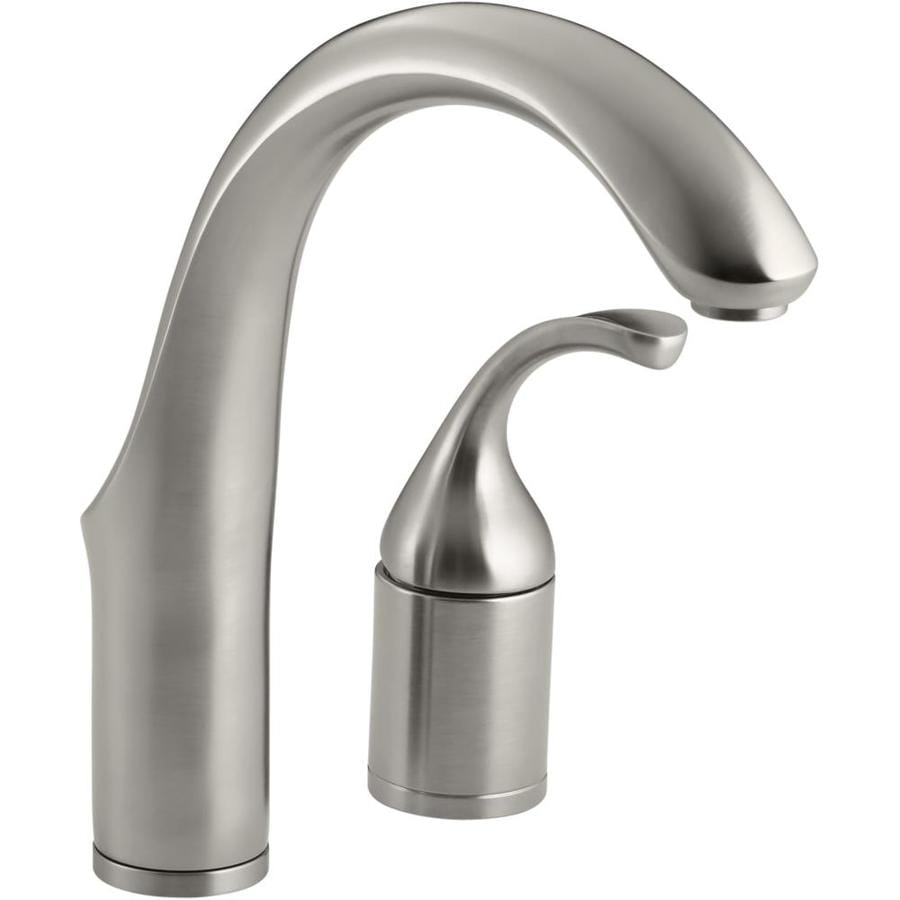 KOHLER Forte Vibrant Stainless 1-Handle Handle(S) Included Bar and Prep Faucet