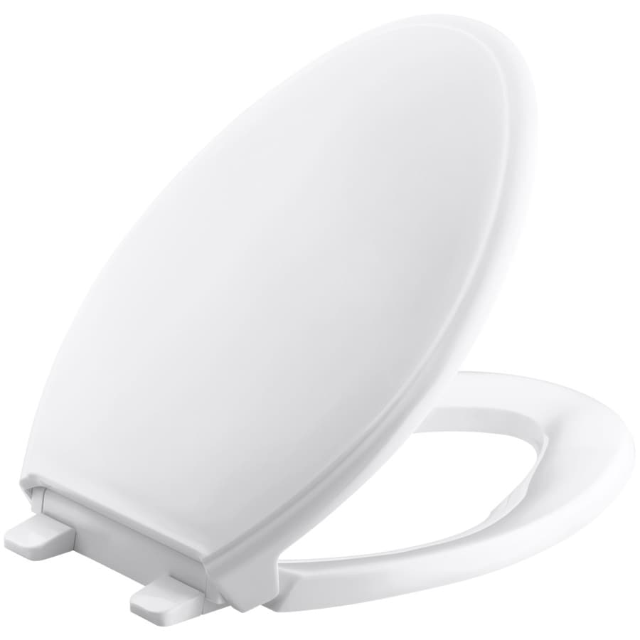 KOHLER Quiet Close Grip-Tight Glenbury Plastic Elongated Slow Close Feature Toilet Seat
