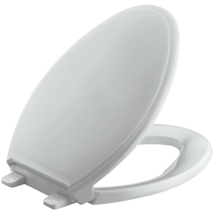 KOHLER Quiet Close Grip-Tight Glenbury Plastic Elongated Slow Close Toilet Seat