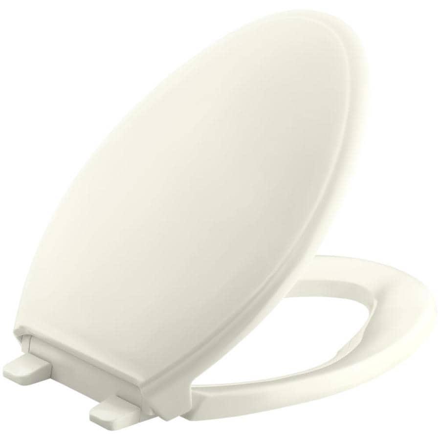 KOHLER Quiet Close Grip-Tight Glenbury Plastic Elongated Slow Close Toilet Seat