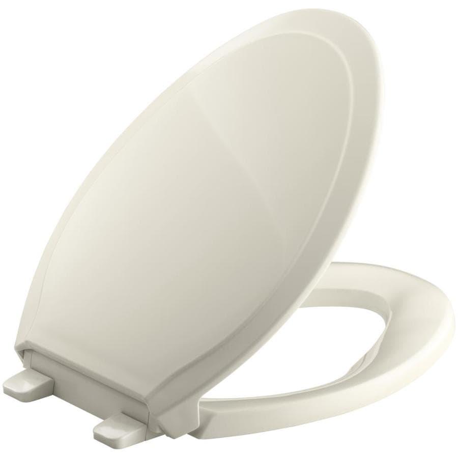 KOHLER Quiet Close Rutledge Plastic Elongated Slow Close Feature Toilet Seat