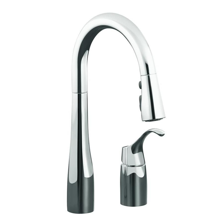 Kitchen Faucets Kohler: Shop KOHLER Simplice Polished Chrome 1-Handle Pull-Down