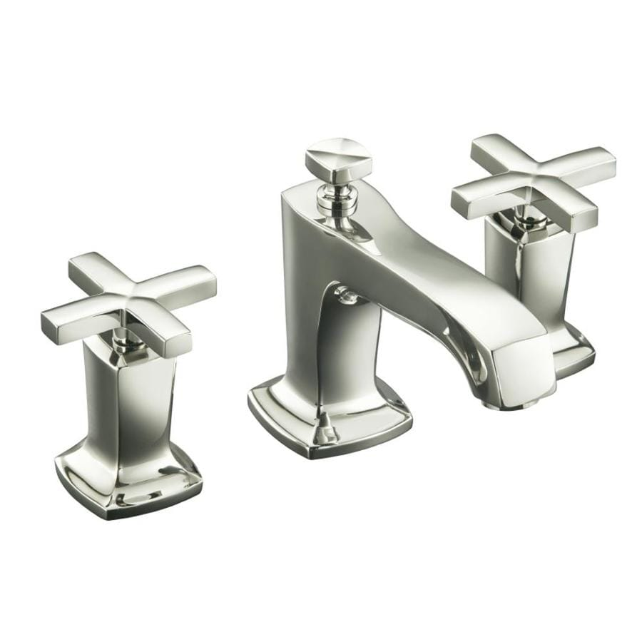... Nickel 2-Handle Widespread WaterSense Bathroom Faucet (Drain Included