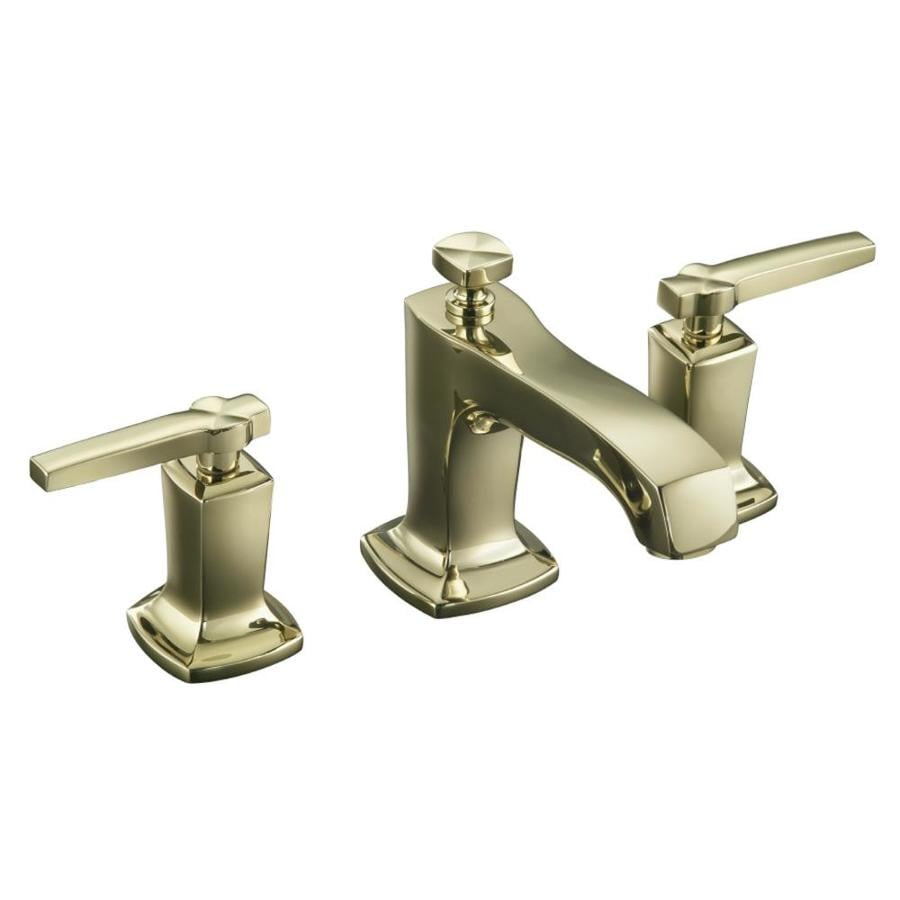 Kohler margaux vibrant french gold 2 handle widespread - Kohler two tone bathroom faucets ...