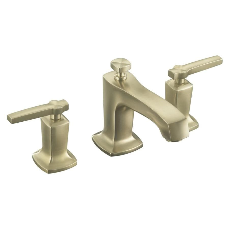 KOHLER Margaux Vibrant Brushed Bronze 2-Handle Widespread WaterSense Bathroom Faucet (Drain Included)