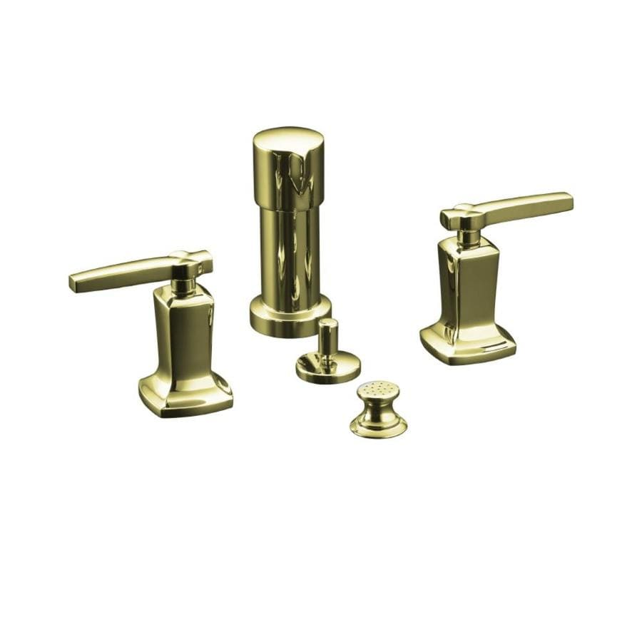 KOHLER Margaux Vibrant French Gold Vertical Spray Bidet Faucet with Trim Kit