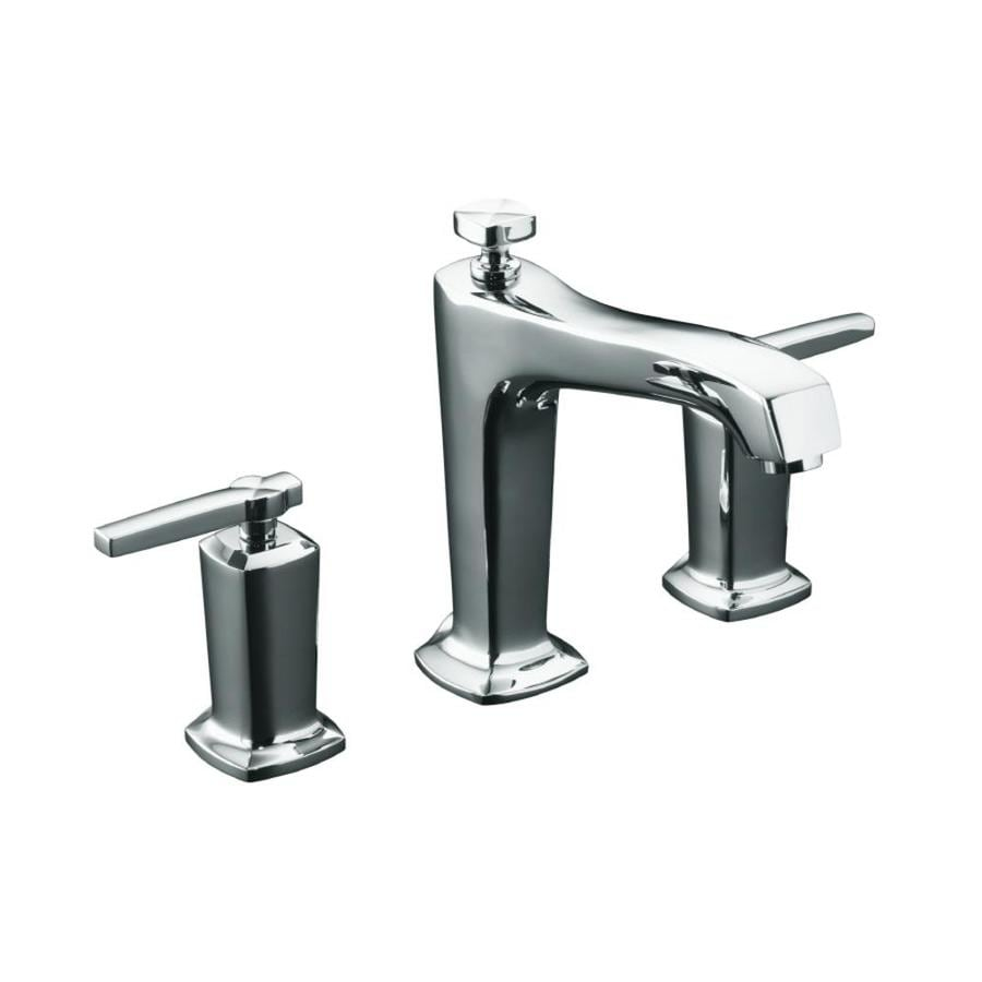 KOHLER Margaux Polished Chrome 2-Handle Fixed Deck Mount Bathtub Faucet