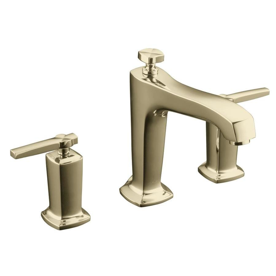 KOHLER Margaux Vibrant French Gold 2-Handle Deck Mount Bathtub Faucet