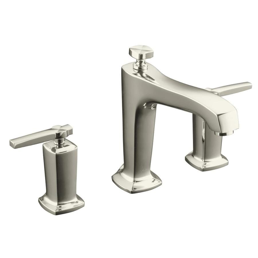 Shop Kohler Margaux Vibrant Polished Nickel 2 Handle Deck Mount