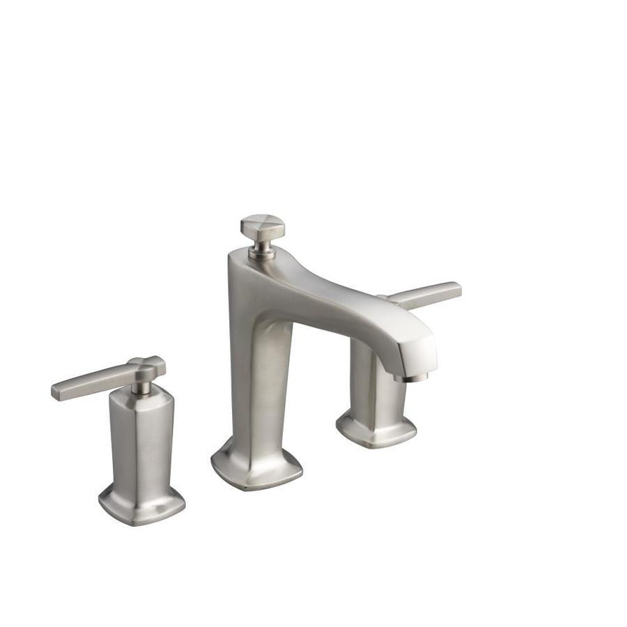 KOHLER Margaux Vibrant Brushed Nickel 2-Handle Deck Mount Bathtub Faucet