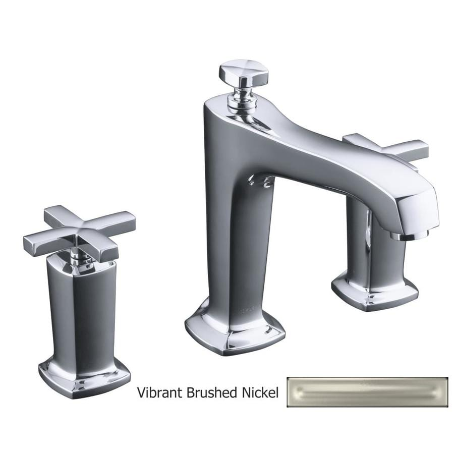KOHLER Margaux Vibrant Brushed Nickel 2-Handle Fixed Deck Mount Bathtub Faucet