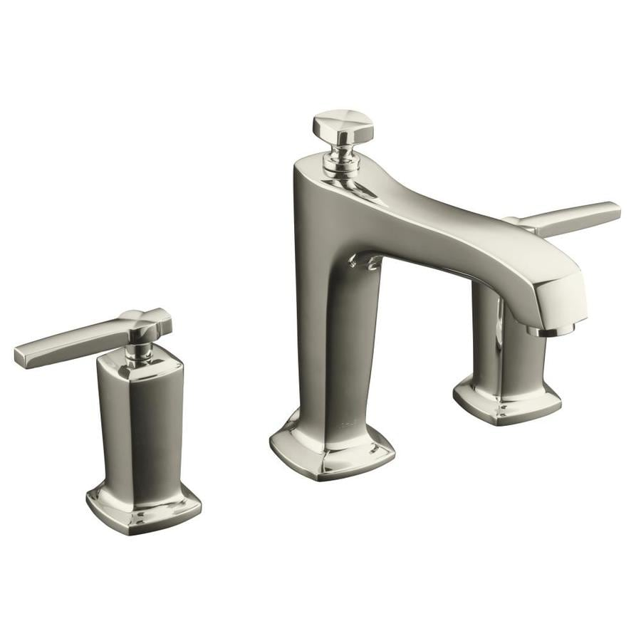 KOHLER Margaux Vibrant Polished Nickel 2-Handle Deck Mount Bathtub Faucet