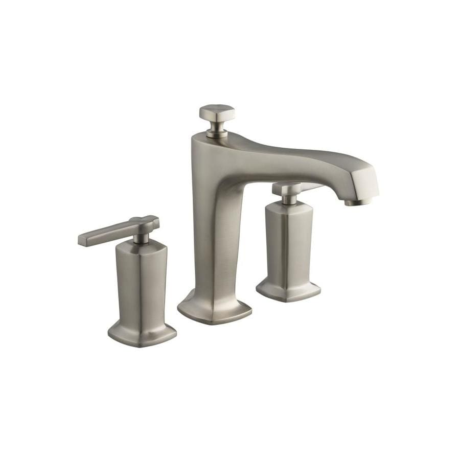 KOHLER Margaux Vibrant Brushed Nickel 2-Handle Deck Mount Bathtub Faucet