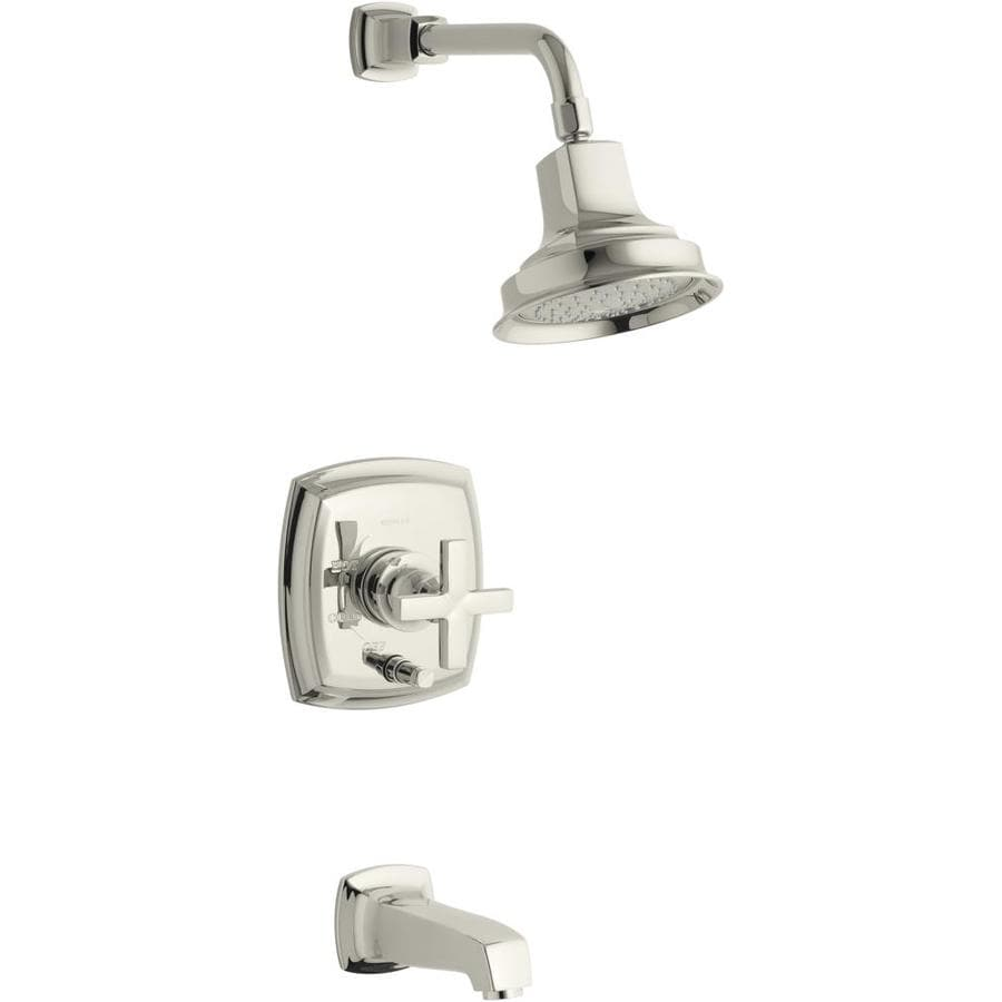 KOHLER Margaux Vibrant Polished Nickel 1-Handle Bathtub and Shower Faucet Trim Kit with Single Function Showerhead