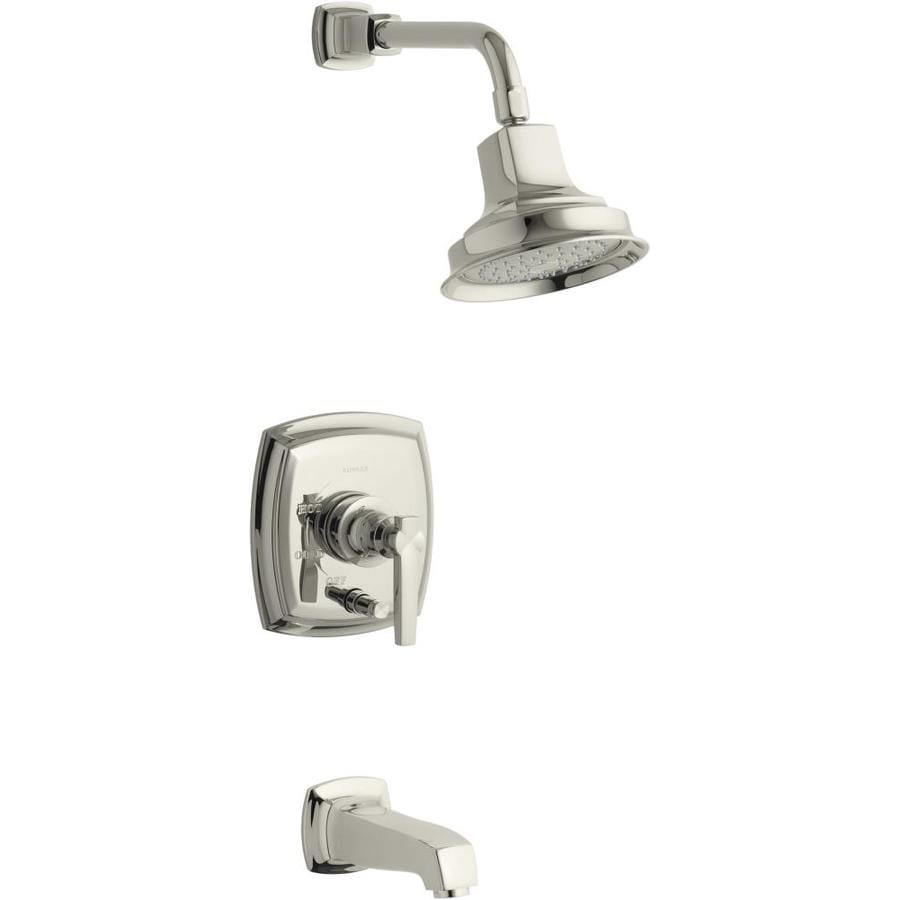 KOHLER Margaux Vibrant Polished Brass 1-Handle Bathtub and Shower Faucet Trim Kit with Single Function Showerhead