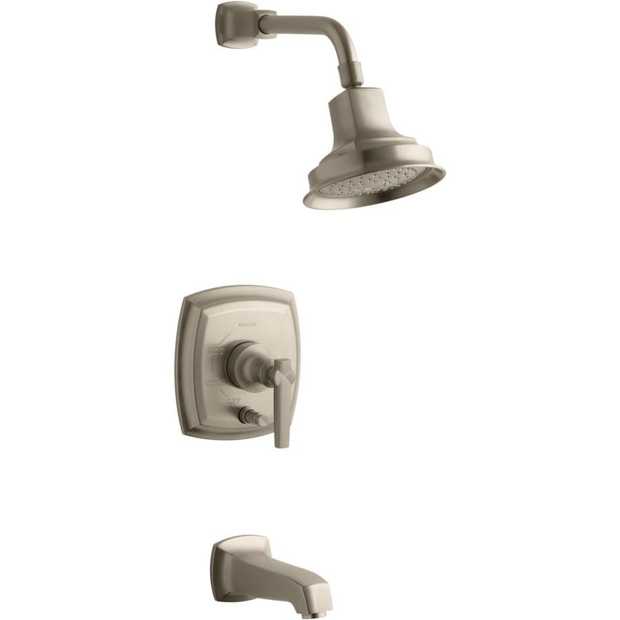 KOHLER Margaux Vibrant Brushed Bronze 1-Handle Bathtub and Shower Faucet Trim Kit with Single Function Showerhead