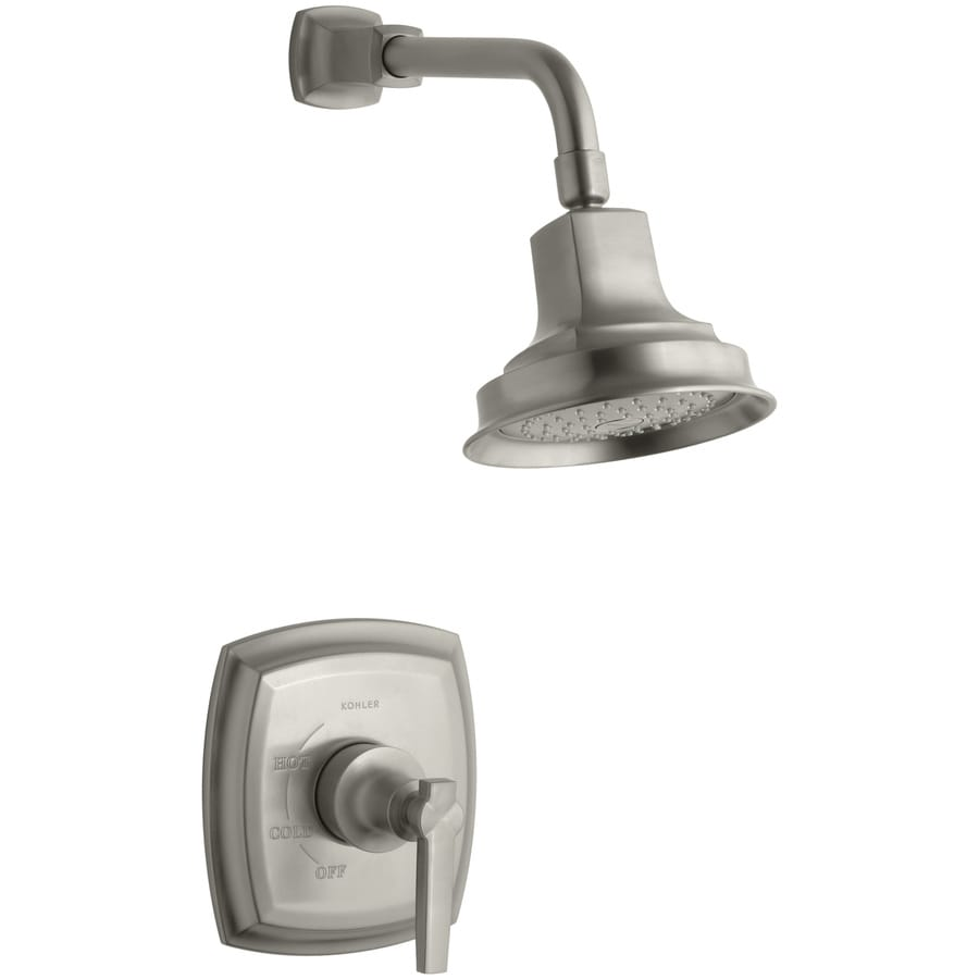 KOHLER Margaux Vibrant Brushed Nickel 1-Handle Shower Faucet Trim Kit with Single Function Showerhead