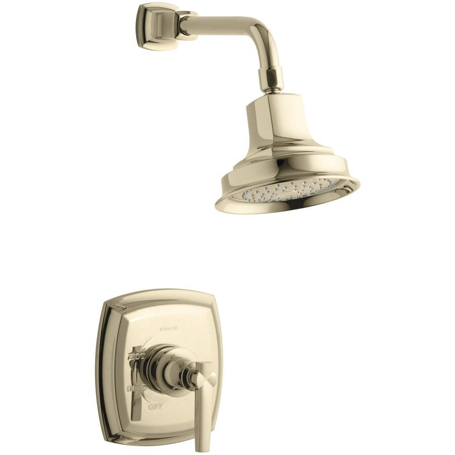 Shop Kohler Margaux Vibrant French Gold 1 Handle Shower Faucet Trim Kit With Single Function