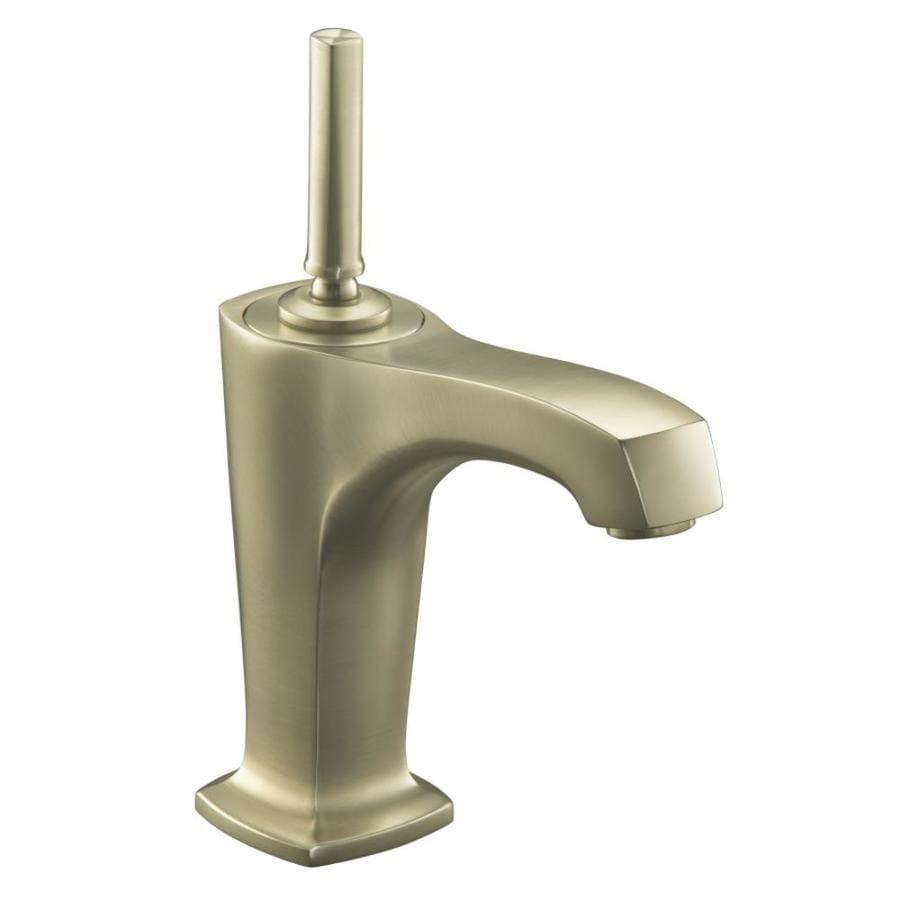 Shop Kohler Margaux Vibrant Brushed Bronze 1 Handle Single Hole Bathroom Sink Faucet At