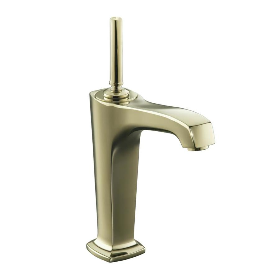 KOHLER Margaux Vibrant French Gold 1-Handle Single Hole Bathroom Faucet (Drain Included)