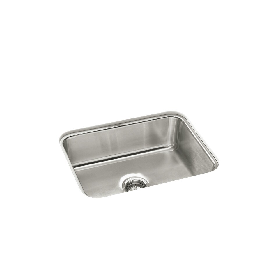 Sterling Mcallister 18-in x 24-in Satin Single-Basin Stainless Steel Undermount Residential Kitchen Sink