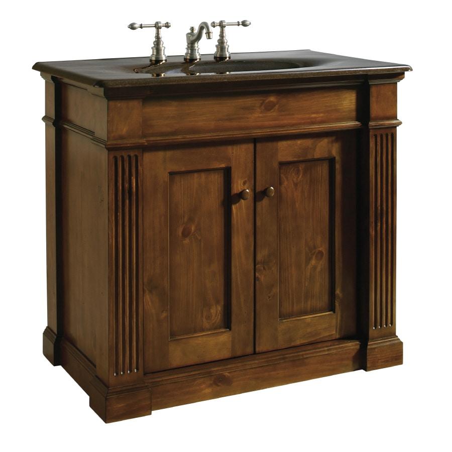 KOHLER Thistledown Sienna Traditional Knotty Pine Bathroom ...