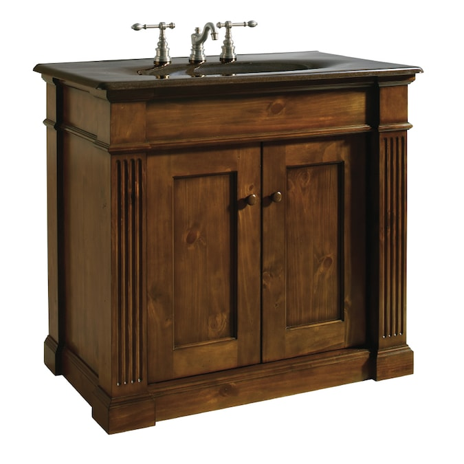 Kohler Thistledown Sienna Traditional Knotty Pine Bathroom Vanity Common 42 In X 22 In Actual 42 In X 21 375 In In The Bathroom Vanities Without Tops Department At Lowes Com