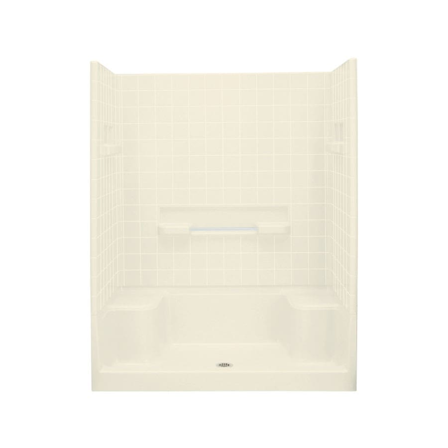 Sterling Advantage Biscuit 4-Piece Alcove Shower Kit (Common: 34-in x 60-in; Actual: 77.25-in x 35.25-in x 60-in)