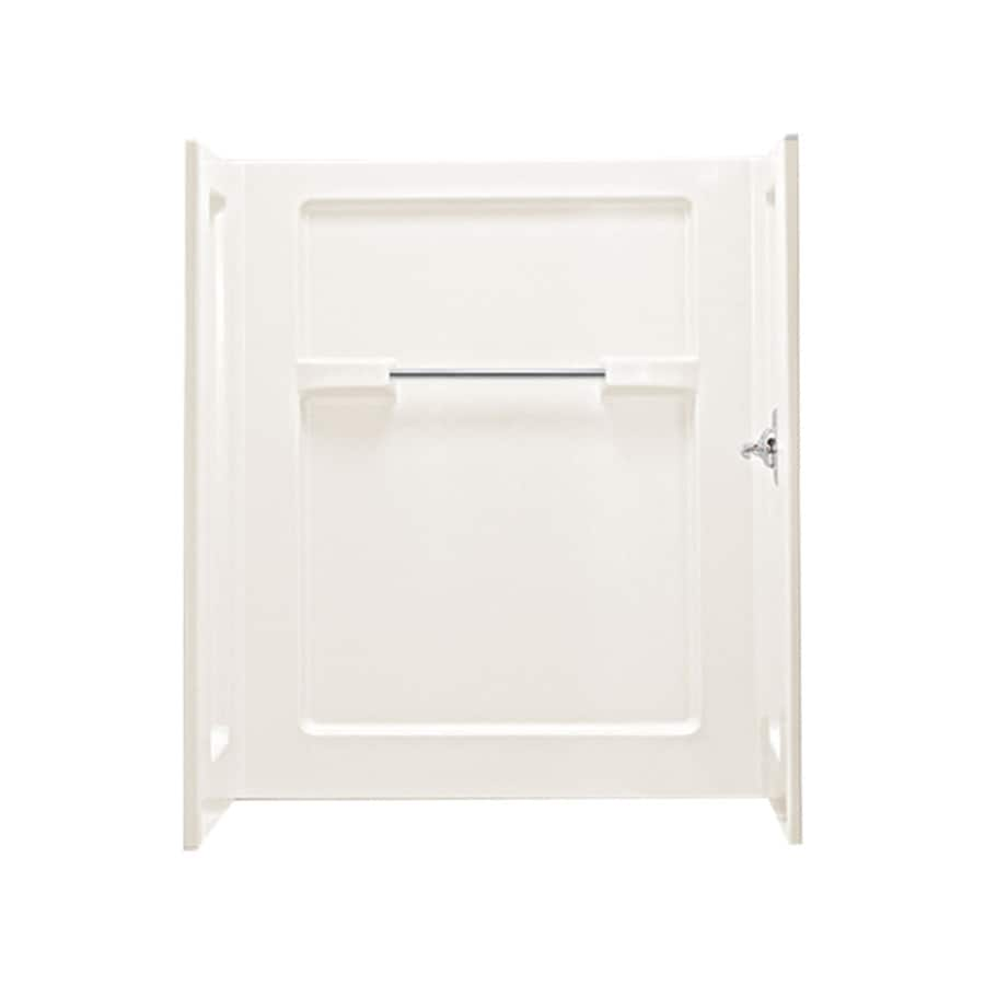 Sterling Advantage Biscuit Shower Wall Surround Side And Back Wall Kit (Common: 48-in x 35-in; Actual: 55.25-in x 48-in x 35.25-in)