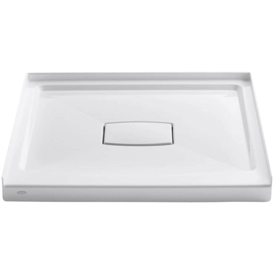 KOHLER Archer White Acrylic Shower Base (Common: 36-in W x 36-in L; Actual: 36.0000-in W x 36.0000-in L)