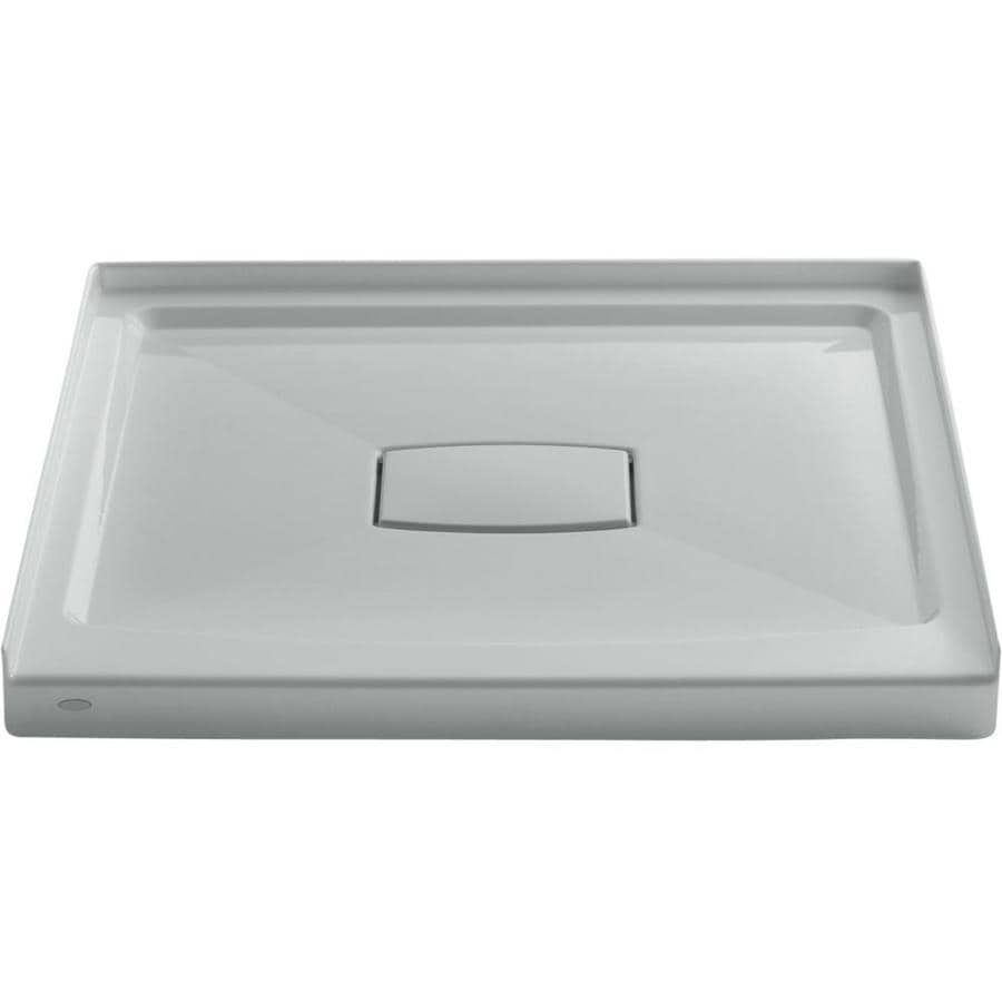 KOHLER Archer Ice Grey Acrylic Shower Base (Common: 36-in W x 36-in L; Actual: 36-in W x 36-in L)