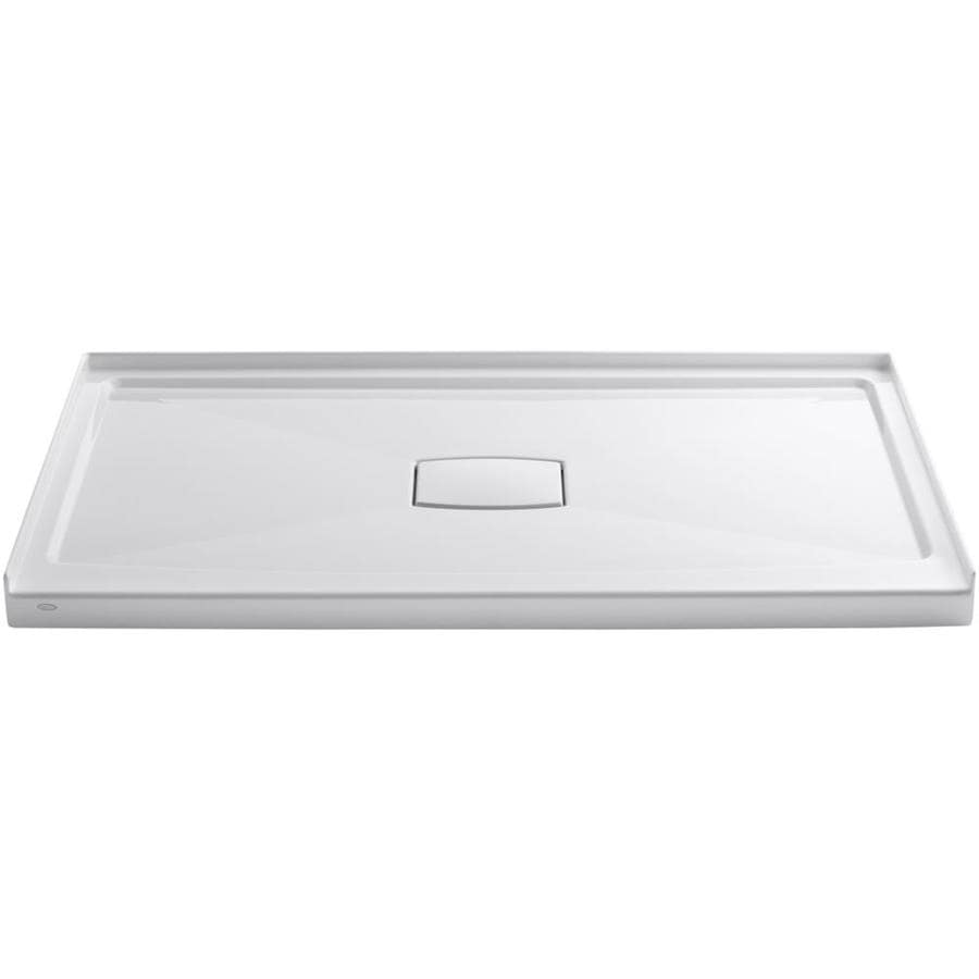 KOHLER Archer White Acrylic Shower Base (Common: 36-in W x 60-in L; Actual: 36.0-in W x 60.0-in L)