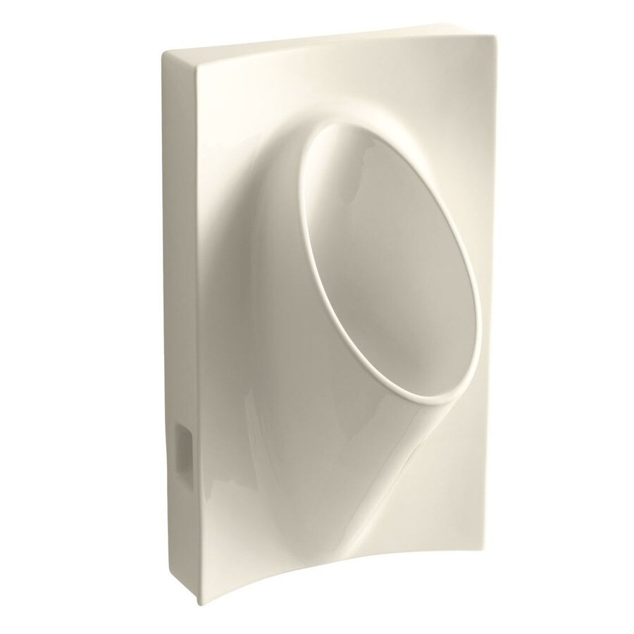 KOHLER 19.125-in W x 31.875-in H Almond Wall-Mounted Urinal