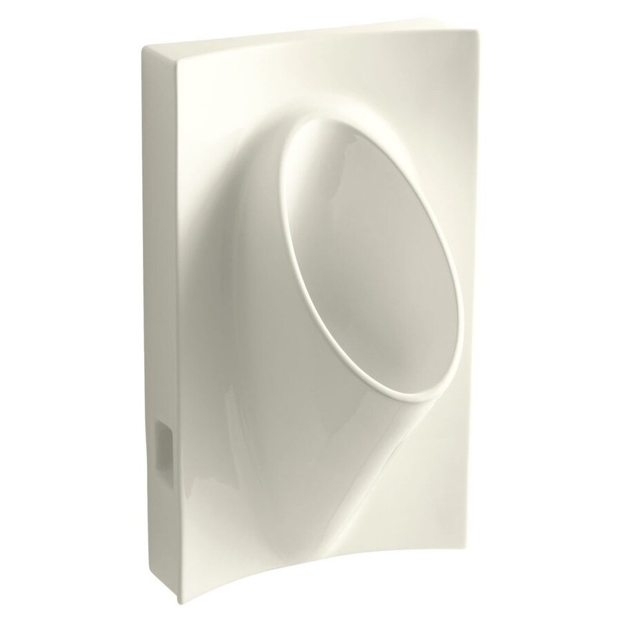 KOHLER 19.1250-in W x 31.8750-in H Biscuit Wall-Mounted Urinal