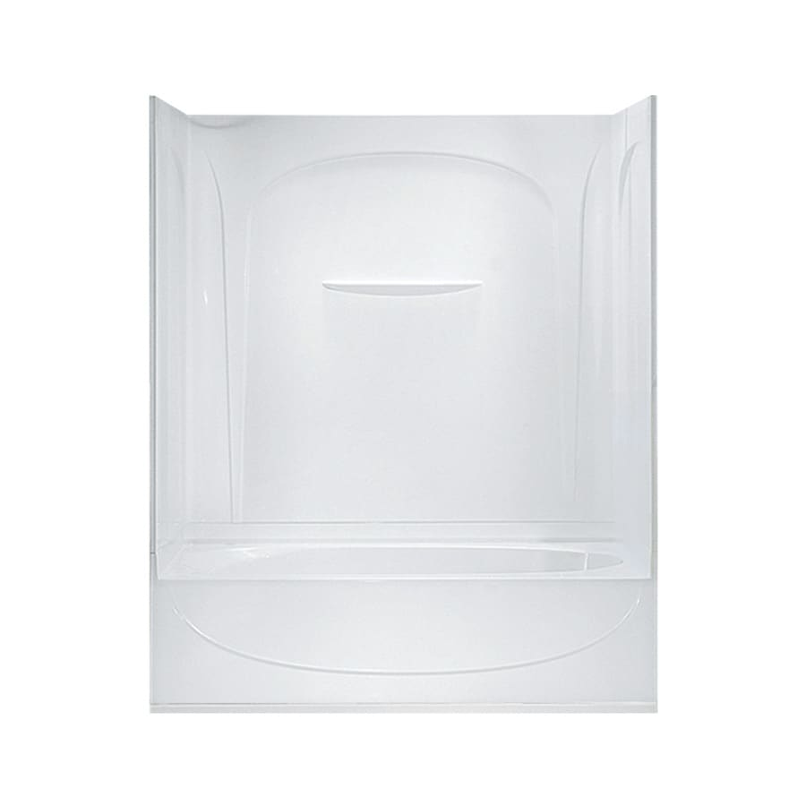 Sterling Acclaim White Vikrell Oval In Rectangle Skirted Bathtub with Right-Hand Drain (Common: 30-in x 60-in; Actual: 74.25-in x 30.5-in x 60.25-in)