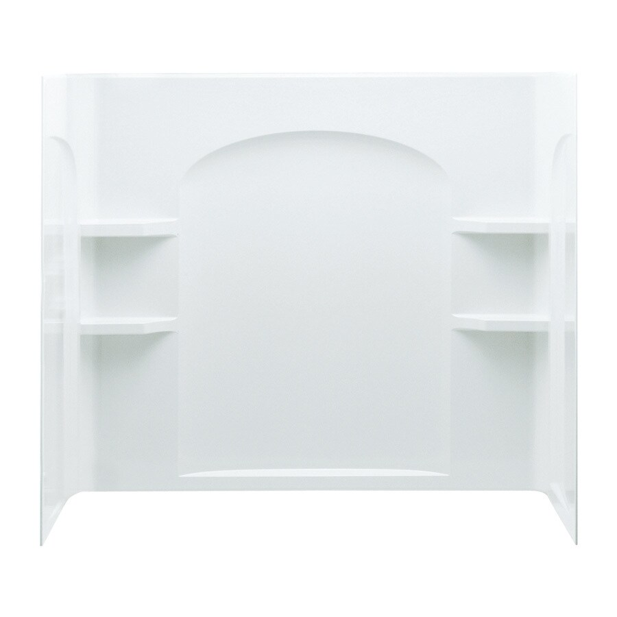 Sterling Ensemble White Vikrell Bathtub Wall Surround (Common: 60-in x 32-in; Actual: 55.25-in x 60-in x 33.25-in)