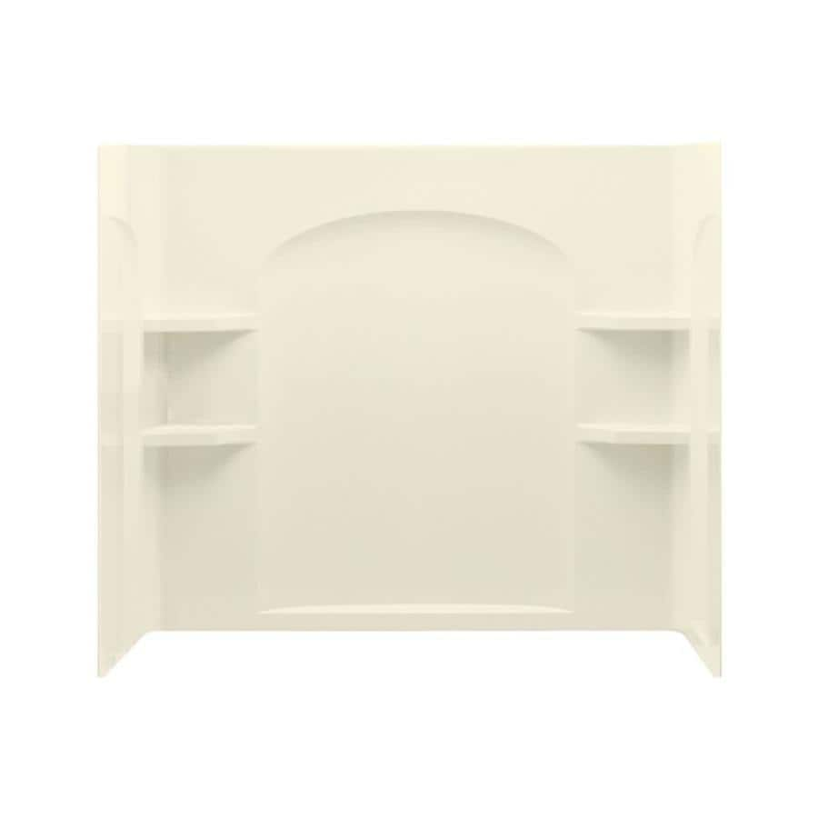 Sterling Ensemble Biscuit Vikrell Bathtub Wall Surround (Common: 60-in x 32-in; Actual: 55.2500-in x 60-in x 33.2500-in)