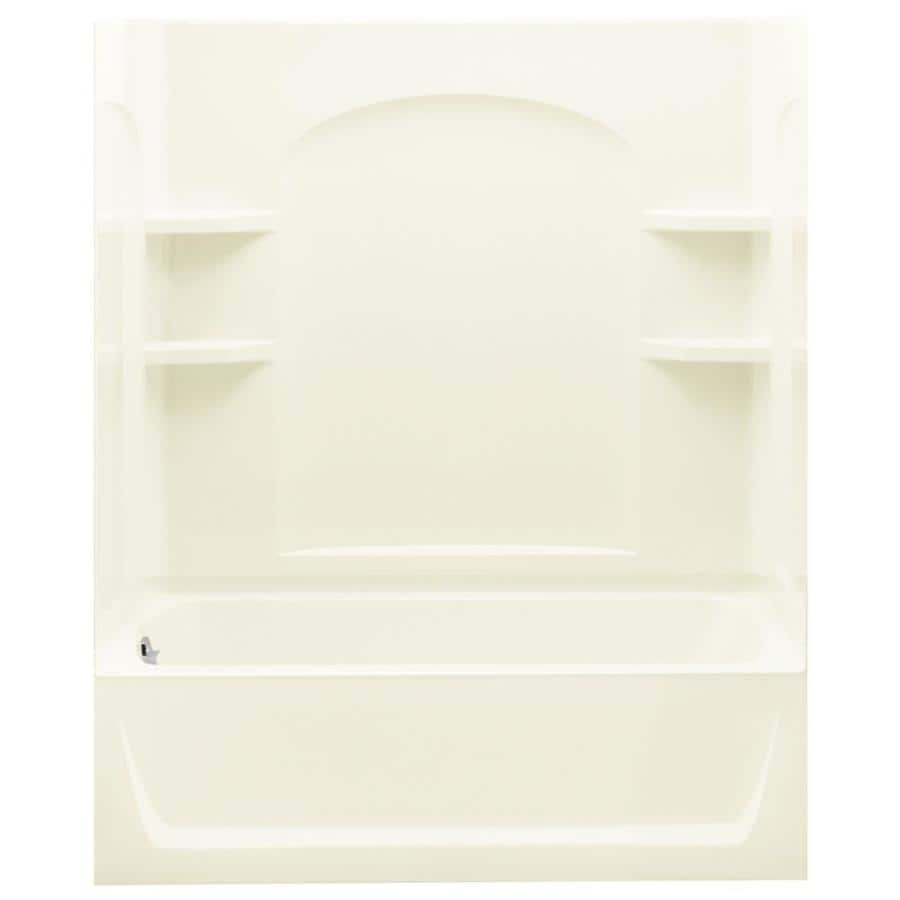 Sterling Ensemble Biscuit 4 Piece Alcove Shower Kit (Common: 32 In X